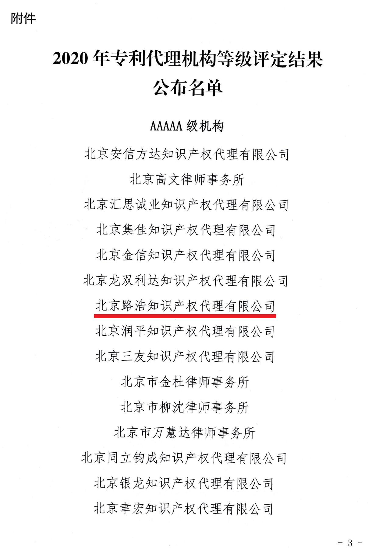 京专代协〔2021〕37号关于公布2020年北京市专利代理机构等级评定结果的通知_02.png